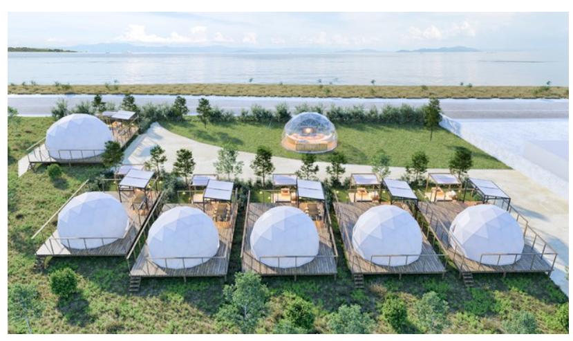 「琵琶湖」を間近に感じるグランピング施設がオープン!